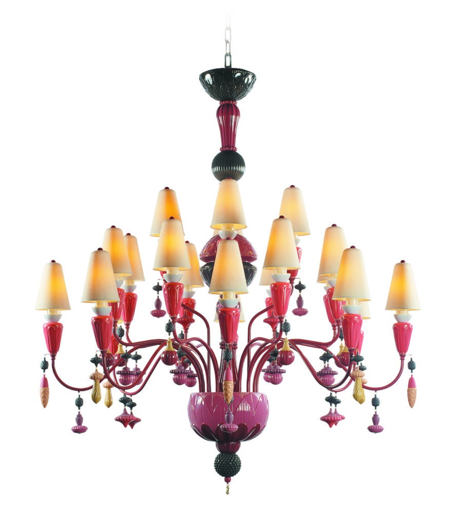F17_OH_LLADRO_(Ivy and Seed chandelier Coral)