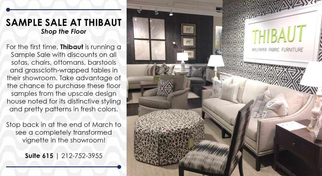 Sample Sale at Thibaut