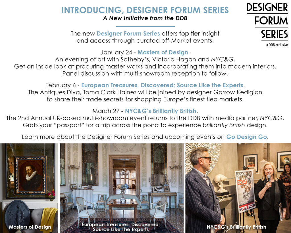 NEW designer forum series