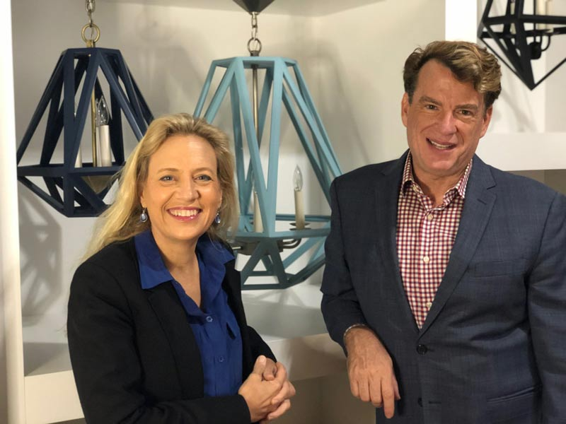 Lauren Wylonis, KingsHaven chief executive officer, founder and lead designer, and Andrew Raemsch, KingsHaven national sales director and New York showroom manager.