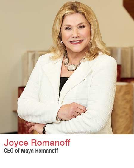 Joyce Romanoff CEO Maya Romanoff.